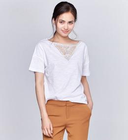 新品S镂空亮片圆领T恤