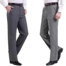 秋季中年男士直筒休闲裤