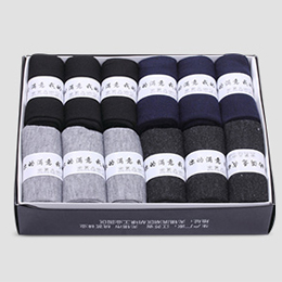 12双纯棉吸汗防臭袜子