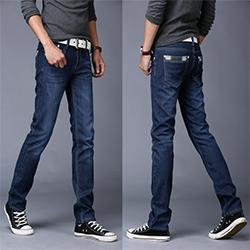 男士新款牛仔裤男春夏季款修身直筒青年宽松大码