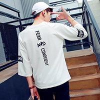 17夏季短袖T恤男韩版修身半袖