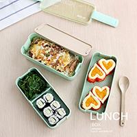 麦元素可爱饭盒便当盒分格3层