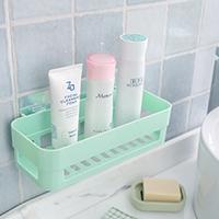 免打孔卫生间置物架塑料洗手间洗漱台三角吸盘