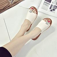 新款牛筋底拖鞋女夏韩版舒适软底防滑一字拖