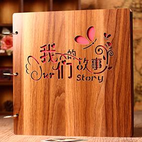 木质diy相册手工创意情侣浪漫粘贴式相册