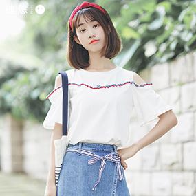 迪悠2017夏季新款韩版上衣