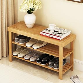 换鞋凳鞋柜实木竹欧式试穿门口鞋架