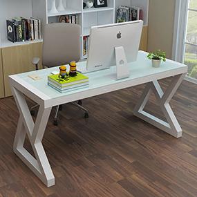 智影钢化玻璃简易电脑桌