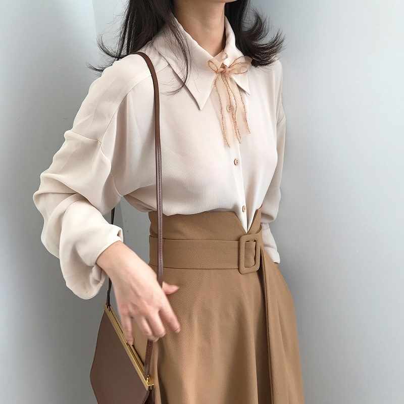 秋冬新款高腰半身裙中长款
