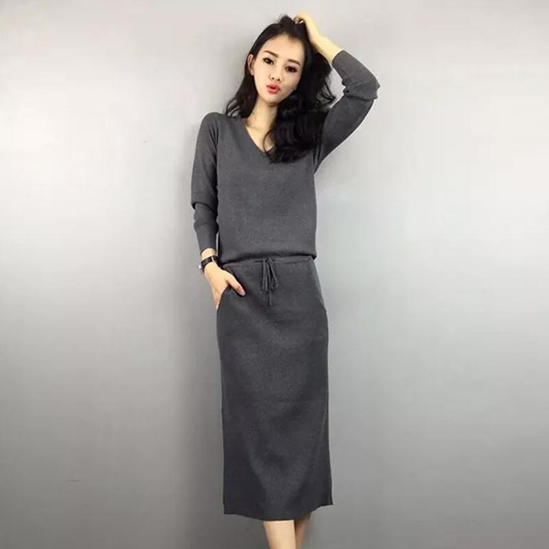 毛衣裙子针织连衣裙