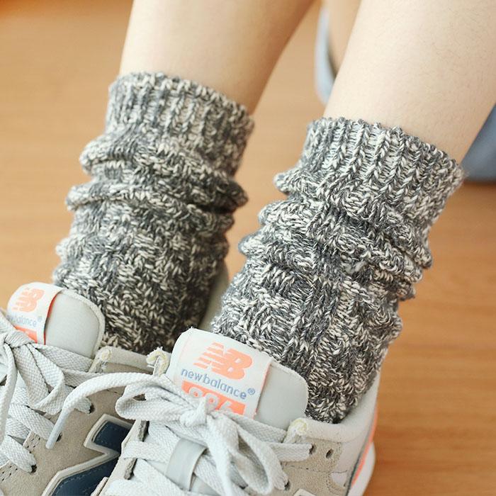 粗线针织堆堆袜男女中筒袜