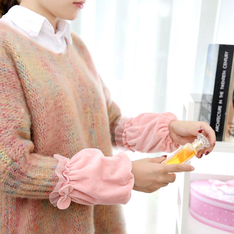 秋冬袖套可爱短款毛绒套袖