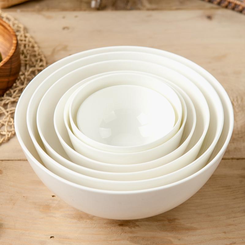 纯白骨瓷小碗北欧式餐具