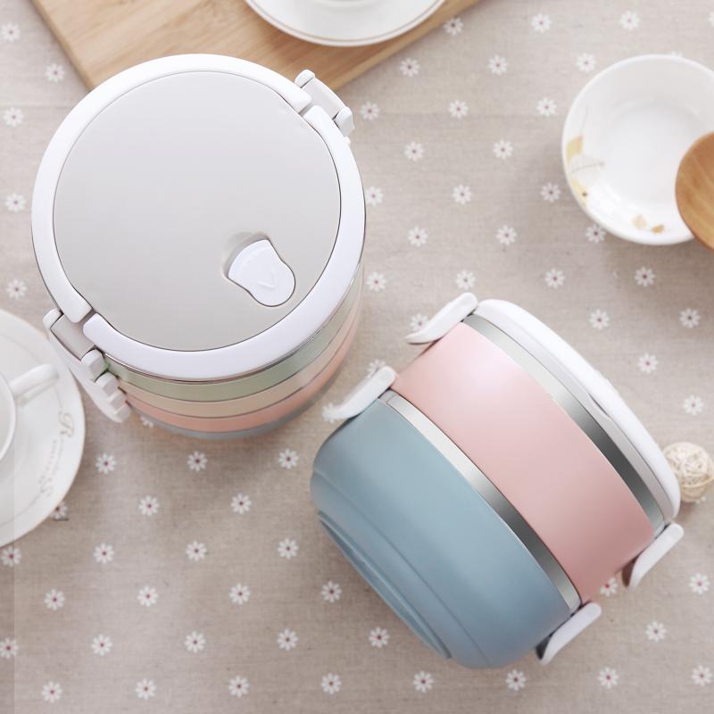 创意日式多层不锈钢保温饭盒