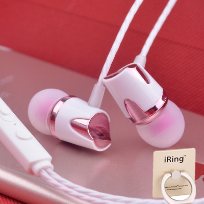 通用iPhone5s/6/6s手机女生小米入耳式耳机