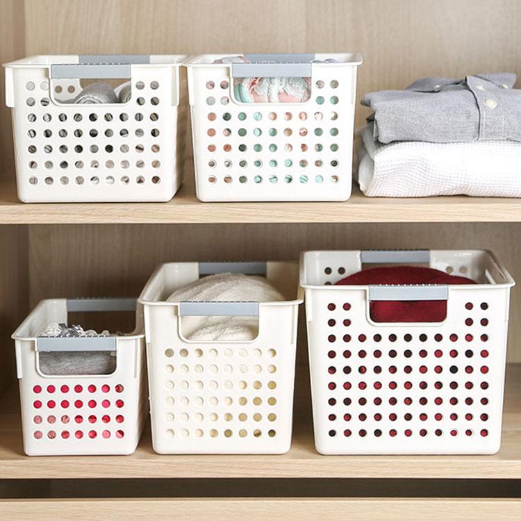 日式手提塑料收纳篮