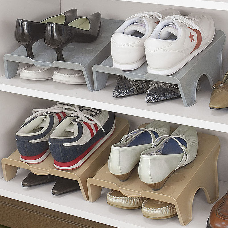 日本鞋架塑料简易创意家用鞋子收纳架