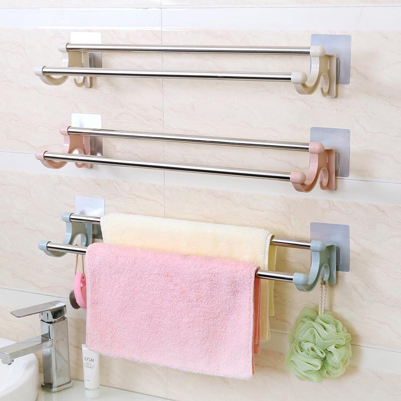 浴室毛巾架强力粘贴免打孔浴巾架