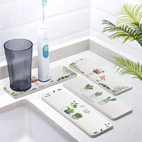 硅藻泥洗漱台吸水垫洗手台