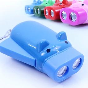 包邮小猪按压发电手电筒可爱便携